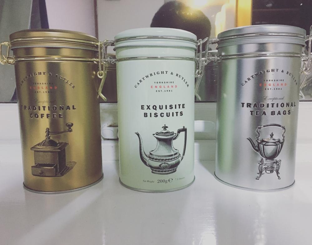 咖啡、茶、糖罐